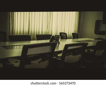 meeting room with film tone cinematic