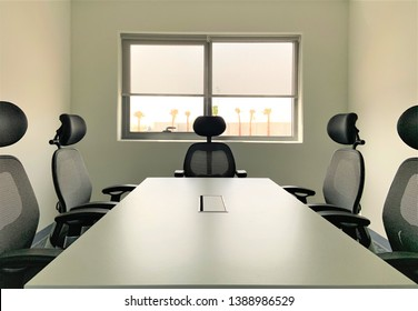 Meeting Room with Half Blinders
