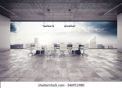 The meeting room in a luxury building