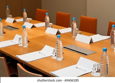Meeting room ready for a businessmen, work places