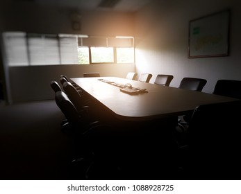 Meeting table in the meeting room