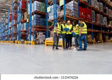 Meeting at warehouse