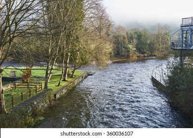 The Meeting of the Waters, County Wicklow, Ireland, marks the spot where River Avonmore and Avonbeg join.