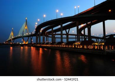 Mega bridge in Thailand