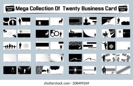 MEGA COLLECTION OF TWENTY BUSINESS CARD FRONT BACK