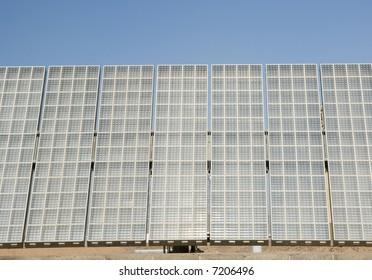 a mega module solar array at the Solar Research Center in Phoenix Arizona