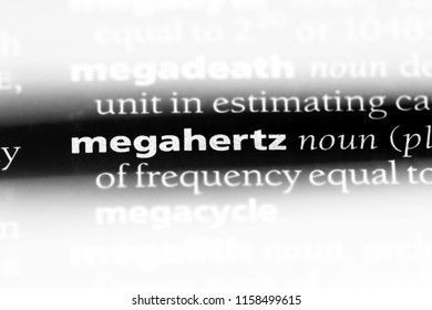 Megahertz Word In A Dictionary Concept