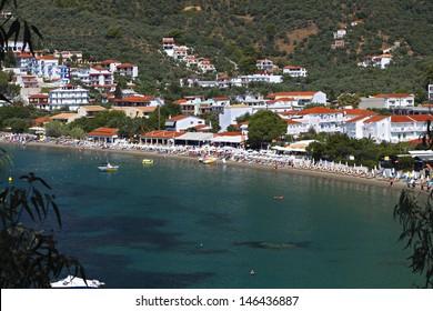 Megali Ammos beach at Skiathos island in Greece