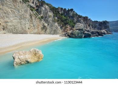 Megali Petra Beach, Lefkada Island, Levkas, Lefkas