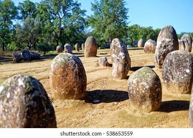 megaliths evora Portugal