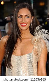 """Megan Fox at the Los Angeles Premiere of """"Transformers"""". Mann's Village Theater, Los Angeles, CA. 06-27-07"""