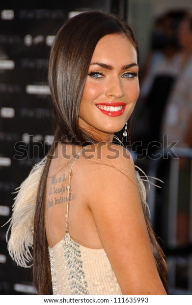 Megan Fox Los Angeles Premiere Transformers Stock Photo ...