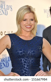 "Megan Hilty at the Los Angeles premiere of ""The World's End"" at the Cinerama Dome, Hollywood. August 21, 2013  Los Angeles, CA"