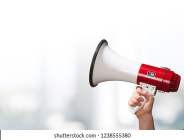 Megaphone attention background advertisement amplifier announce announcement