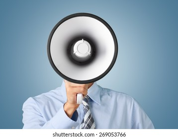 Megaphone, Using Voice, Advertisement.