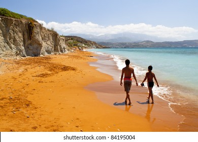 'Megas Lakkos' or 'Xi' beach at Kefalonia island in Greece