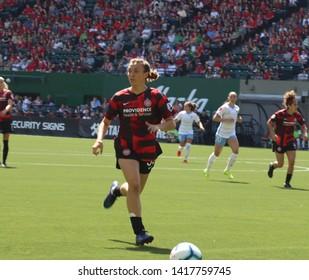 Meghan Klingenberg defender for the Portland Thorns at Providence Park in Portland, Oregon/USA June 2nd 2019.