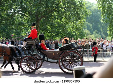 Meghan Markle & Prince Harry, London, uk, June 2018- Meghan Markle, Trooping the colour Royal Family at Buckingham Palace,
