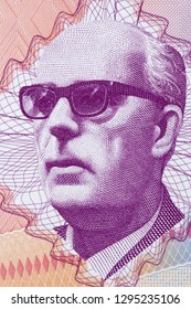 Mehmed Mesa Selimovic portrait from Bosnia and Herzegovina money