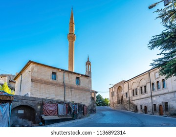 Mehmet Sakirpasa Madrasah and Camii Kabir Mosque view in Muratpasa Town of Cappadocia Region
