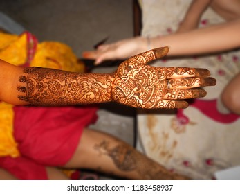 Beautiful Female Hands Indian Bride Mehndi Stock Photo Edit Now