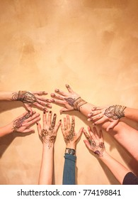 Mehndi is a form of body art from Ancient India, in which decorative designs are created on a person's body, using a paste, created from the powdered dry leaves of the henna plant (Lawsonia inermis).