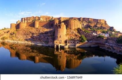 Mehrangarh Fort, Jodhpur, Rajasthan, India. Indian palace