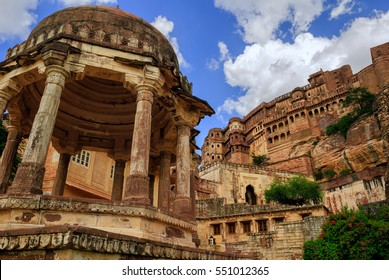 Mehrangarh Fort in Jodhpur, Rajasthan, one of the largest forts in India