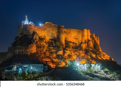 Mehrangarh Fort night view Jodhpur India