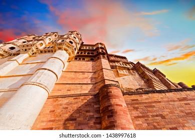Mehrangarh Fort ( UNESCO World Heritage site )  at Jodhpur Rajasthan. India