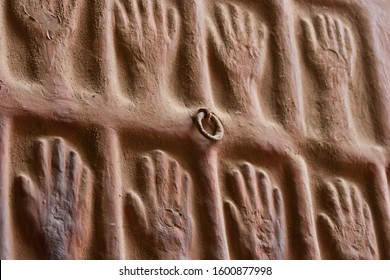 "In Mehrangarh Fort,  is a wall with the hand prints of Raja Mansigh´s widows, who committed ""Sati"" (traditional Hindu practice of a widow immolating herself on her husband's funeral pyre happily)"