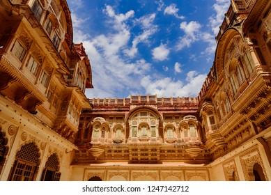 Mehrangarh Fort's exterior facade at Jodhpur, Rajasthan