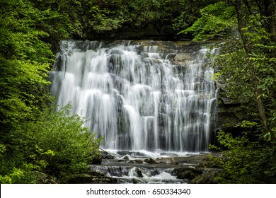 Meigs Falls in the Great Smoky Mountains National Park on a lovely spring morning.