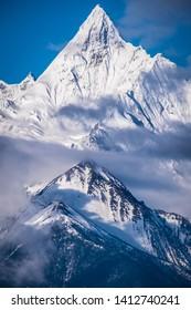 Meili Snow Mountain the most beautiful snow mountain in Deqin, Yunnan, China