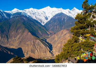 Meili(Meri) Snow Mountains scenery. Mountain is located in Deqin, Yunnan, China. It is one of the Eight Great Mountains in Tibet.