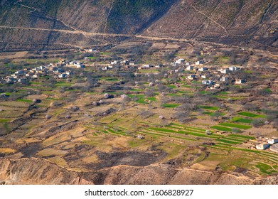 Meili(Meri) Snow Mountains and villages at the foot of the Mountains  . Meili Snow Mountains is located in the northwest of Yunnan.