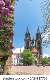 Meissen Dom, located in the district Saxony, Germany.