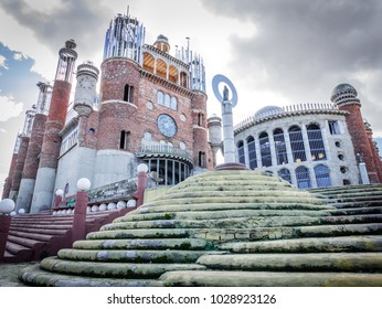 MEJORADA DEL CAMPO, MADRID, SPAIN - FEBRUARY, 2016: Faith cathedral, build by Justo Gallego, who began to build himself a cathedral when he was 40 years old.