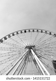 Mekhong ferris wheel at Asiatique The Riverfront, Bangkok,Thailand. The picture was taken in April 2017.