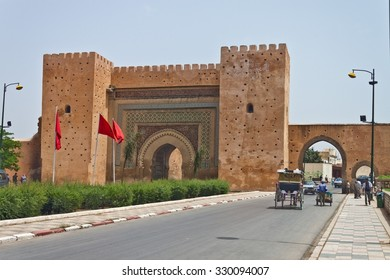 MEKNES - JULY 28: The main gate of the city on July 28, 2010 in Meknes, Morocco. Meknes is one of the oldest imperial city in Morocco.