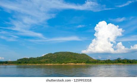 Mekong River, Kaeng Khut Khu, Loei province, Thailand.