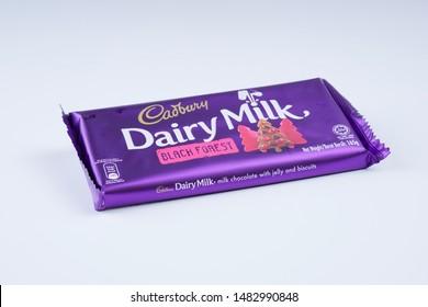 Melaka, Malaysia - Circa August,2019: Cadbury dairy milk isolated product concept