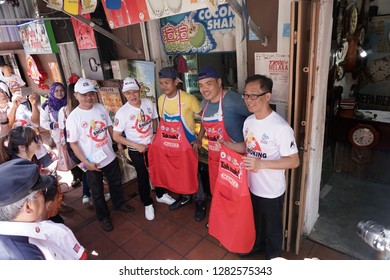 Melaka, Malaysia - Circa January, 2019: The Quit Smoking / Smoke Free Melaka (Melaka Bebas Asap Rokok) campaign at the Jonker Street Melaka.
