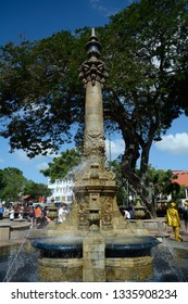 MELAKA, MALAYSIA - FEBRUARY 12: Queen Victoria's Fountain at February 12, 2019 in Melaka, Malaysia. Melaka is a historical town full of colonial architecture.