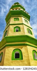 MELAKA, Malaysia - JANUARY 12, 2019 : Duyong Mosque a.k.a Masjid Jamek Laksamana Hang Tuah was located at Kampung Duyong, Melaka. It was built in 1850.