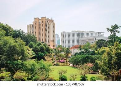Melaka / Malaysia: January 26 2019: park eith high rise hotels