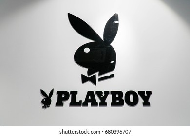 MELAKA, MALAYSIA - JULY 11, 2017: Playboy Enterprises, Inc. is an American privately held global media and lifestyle company, one of the most widely recognized and popular brands in the world