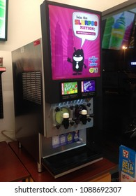Melaka, Malaysia- May 10, 2018: View of ice blended machine on shop shelf.