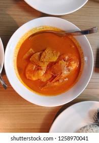 Melaka Nyonya food series - Melaka Nyonya food series - Assam spicy prawn/shrimp one of famous Baba Nyonya cuisine.