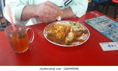 Image result for man eating curry and tea